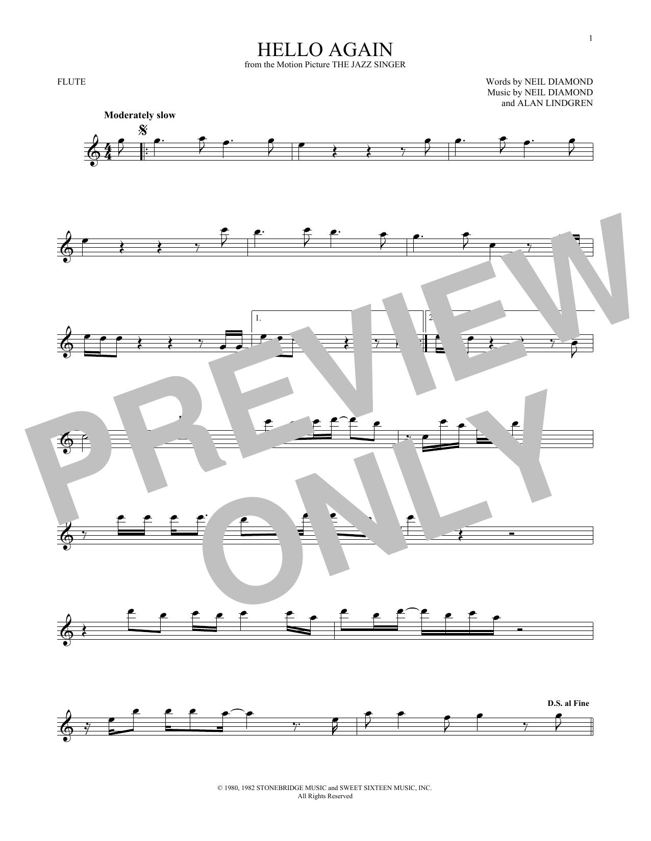 Hello Again (Flute Solo)