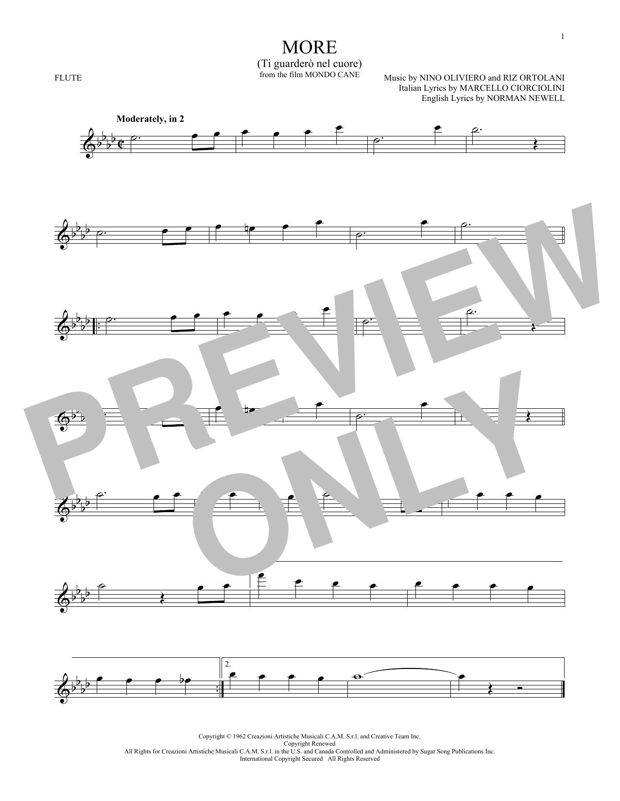 More (Ti Guardero Nel Cuore) (Flute Solo)