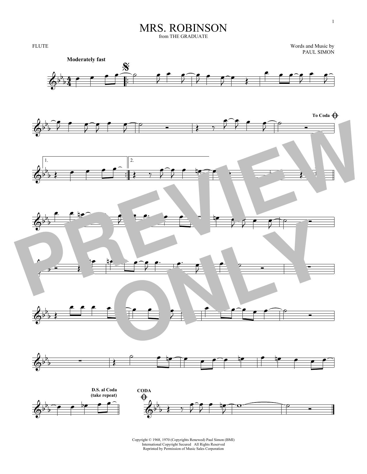 Mrs. Robinson (Flute Solo)
