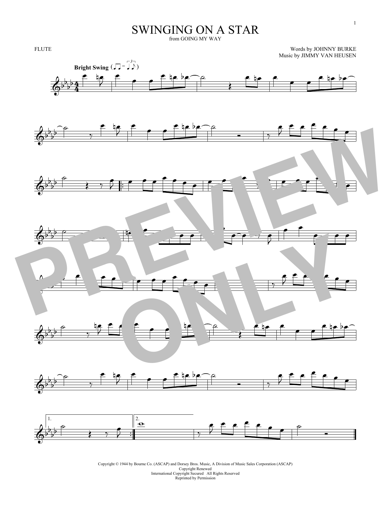 Swinging On A Star (Flute Solo)