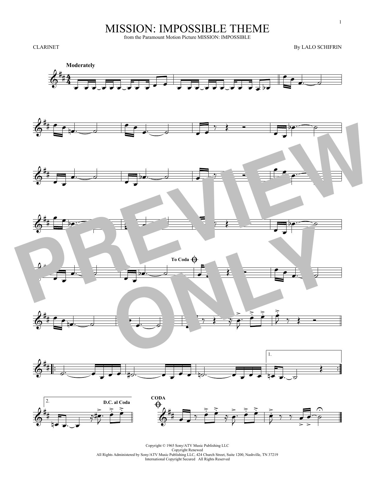 Mission: Impossible Theme (Clarinet Solo)