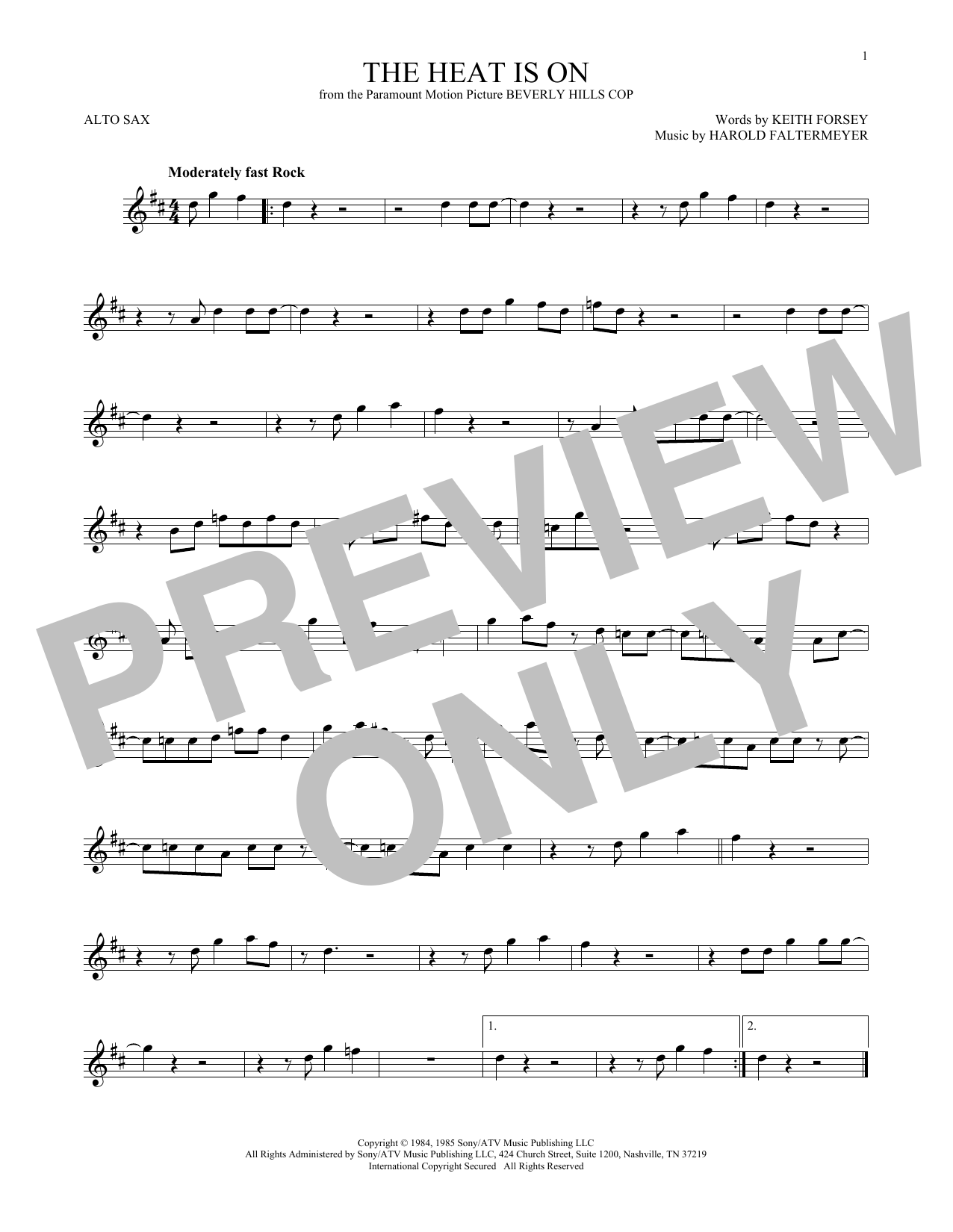 The Heat Is On Sheet Music