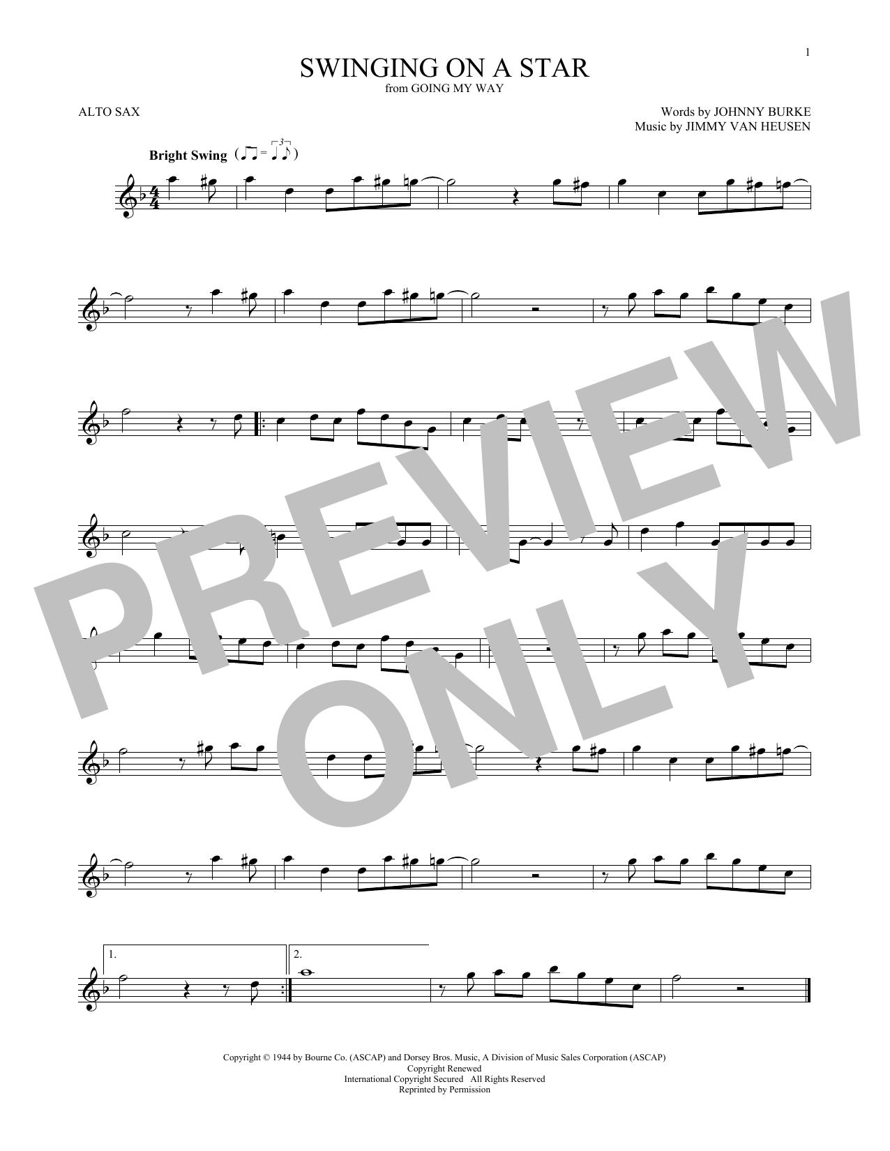 Swinging On A Star (Alto Sax Solo)