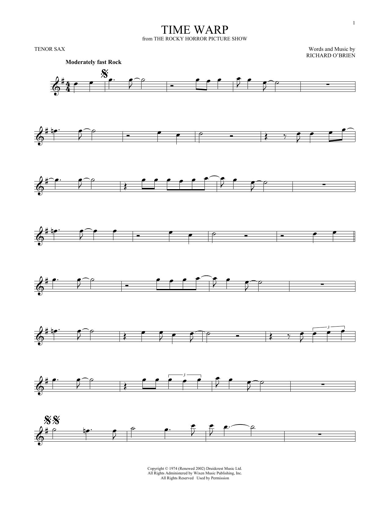 Time Warp (Tenor Sax Solo)
