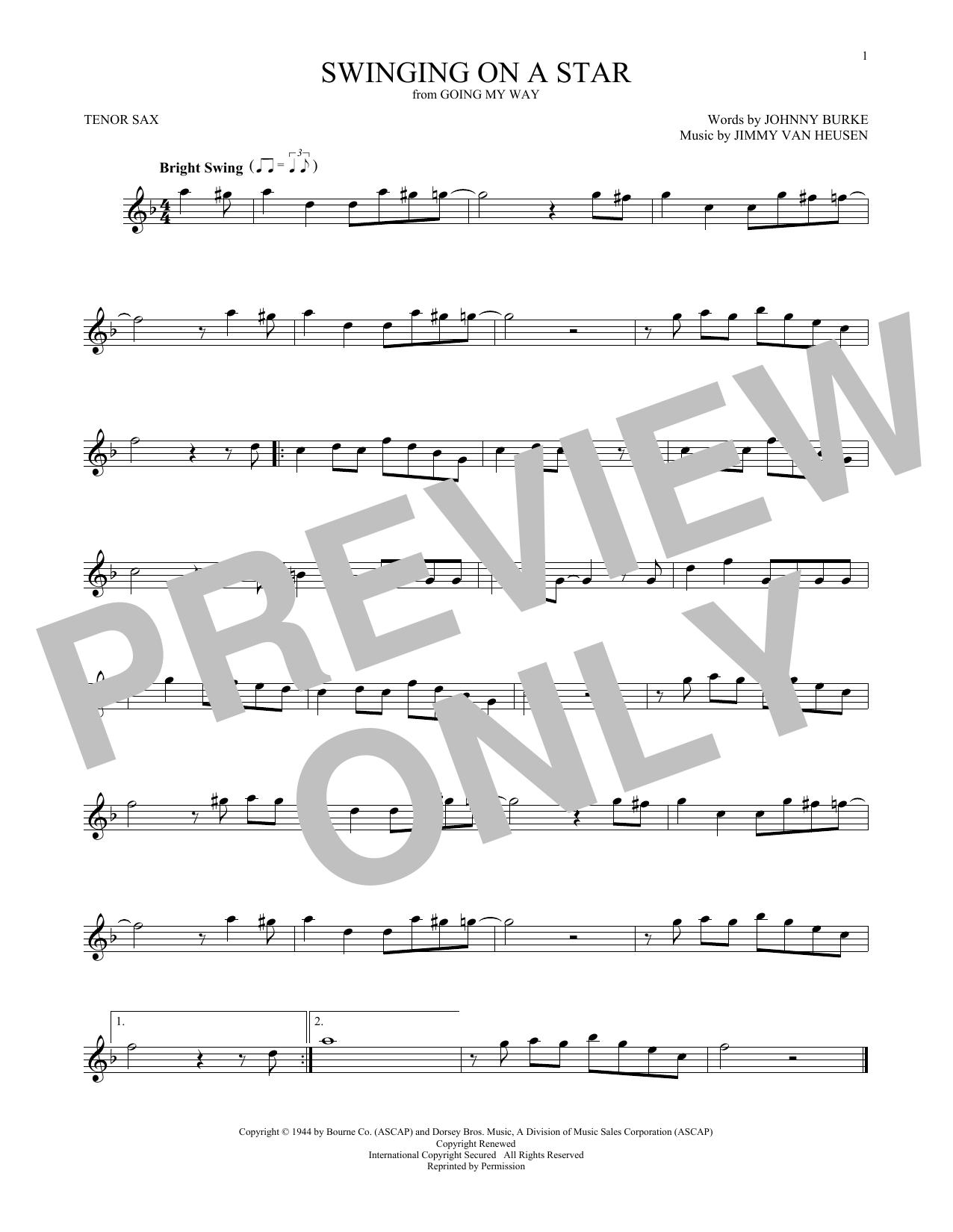 Swinging On A Star (Tenor Sax Solo)