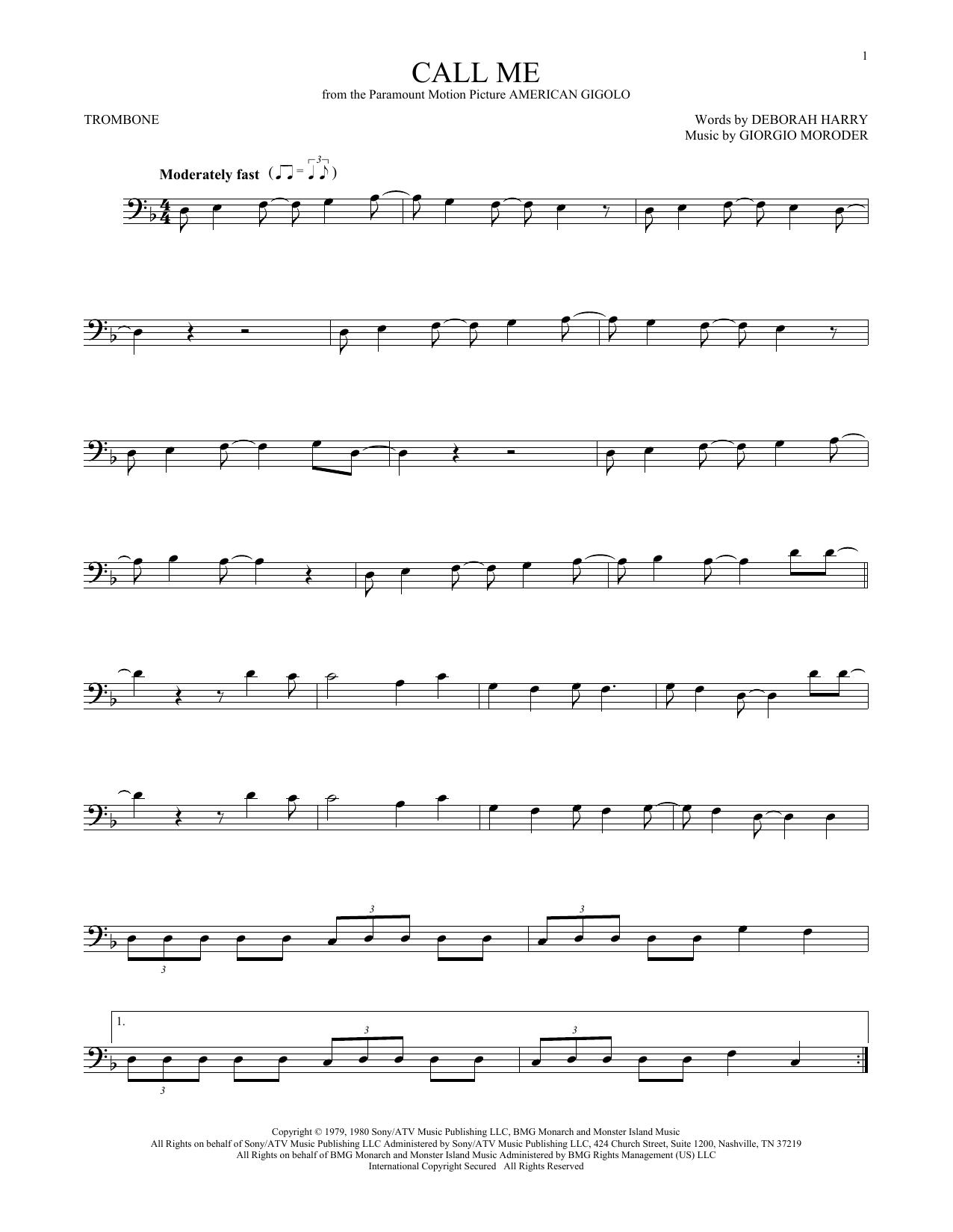 Call Me (Trombone Solo)