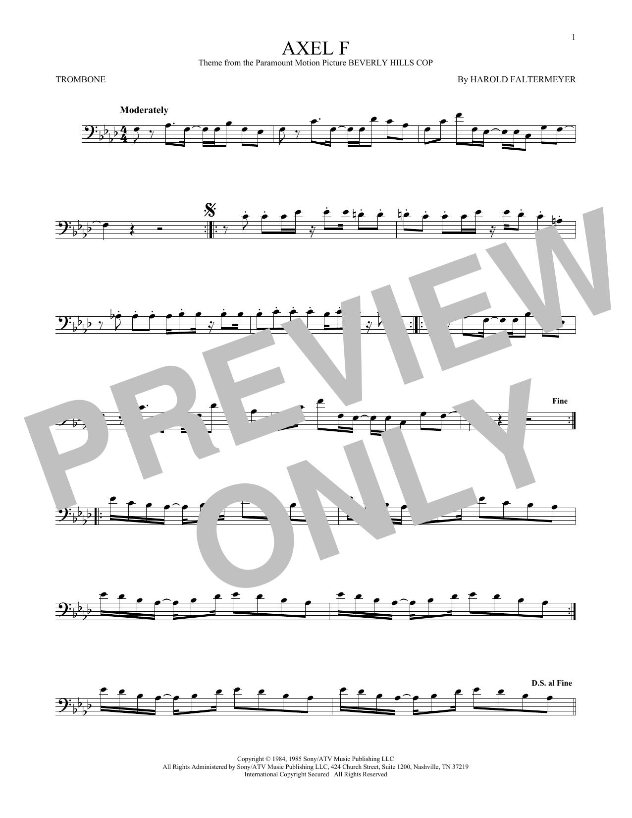 Axel F (Trombone Solo)