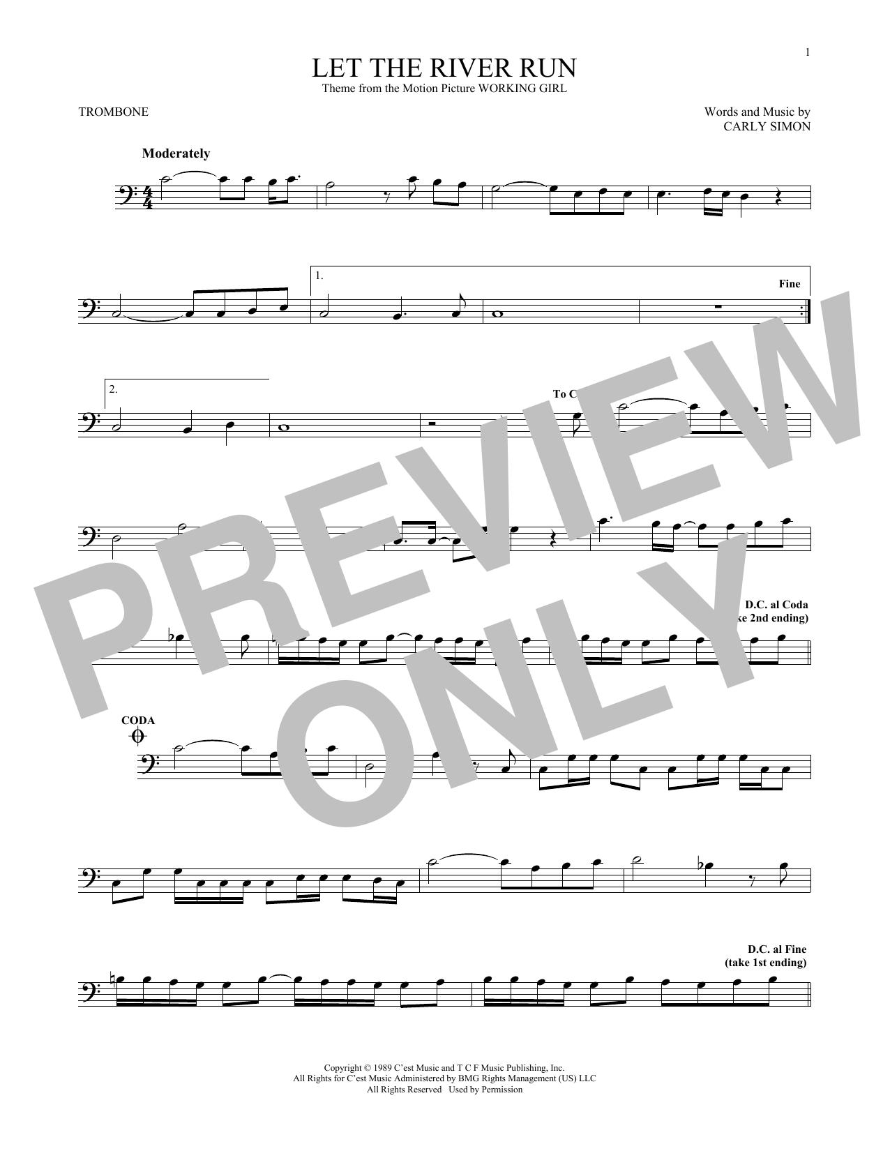 Let The River Run (Trombone Solo)