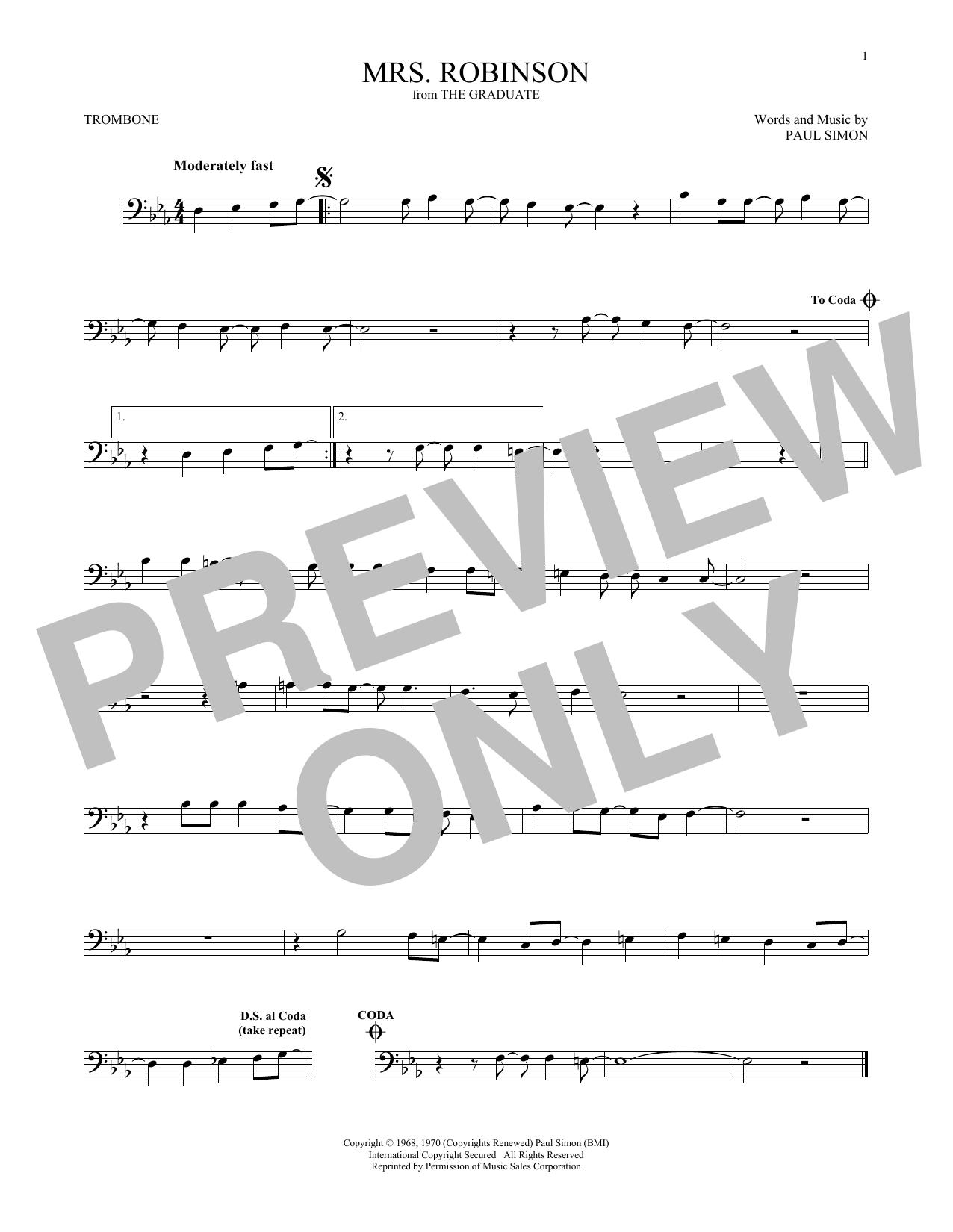 Mrs. Robinson Sheet Music