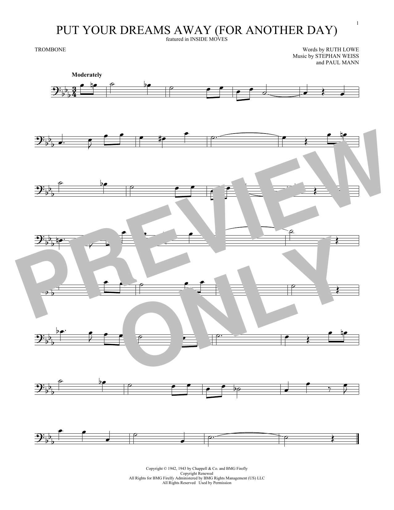 Put Your Dreams Away (For Another Day) (Trombone Solo)