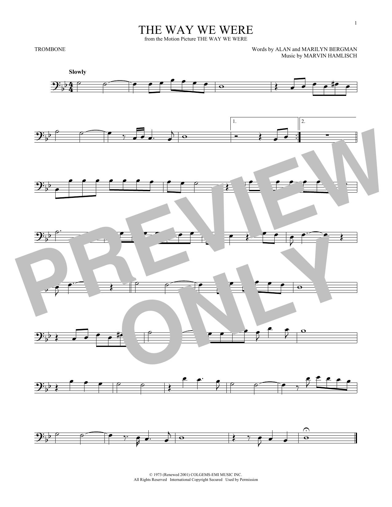 The Way We Were (Trombone Solo)