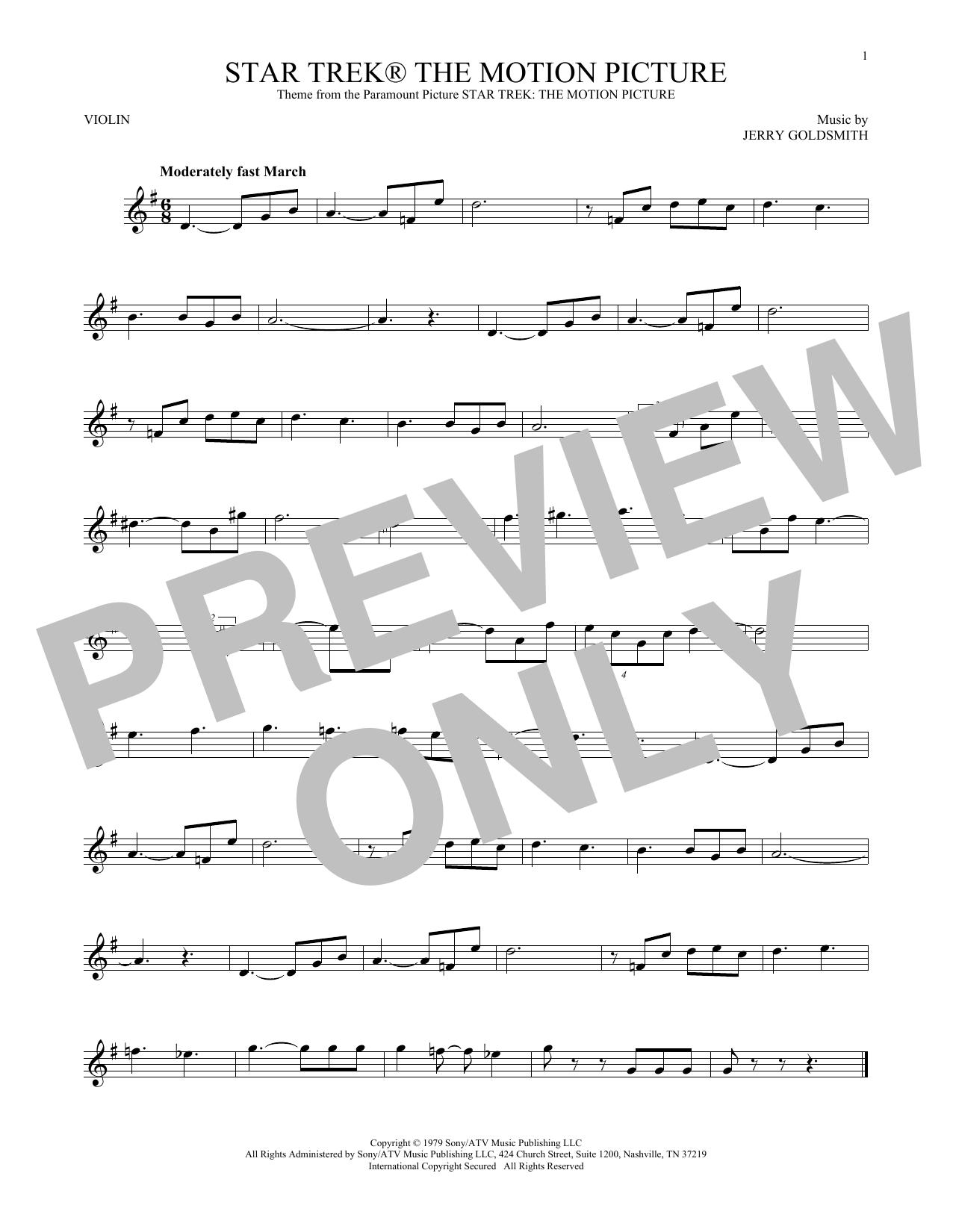 Star Trek The Motion Picture (Violin Solo)