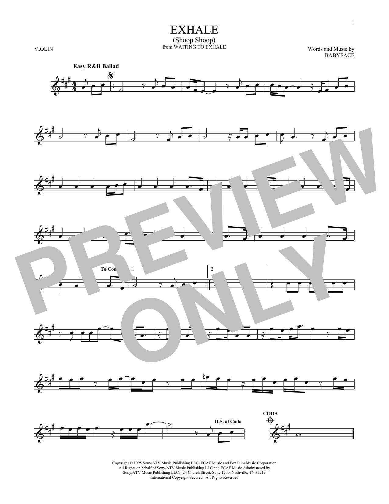 Exhale (Shoop Shoop) (Violin Solo)
