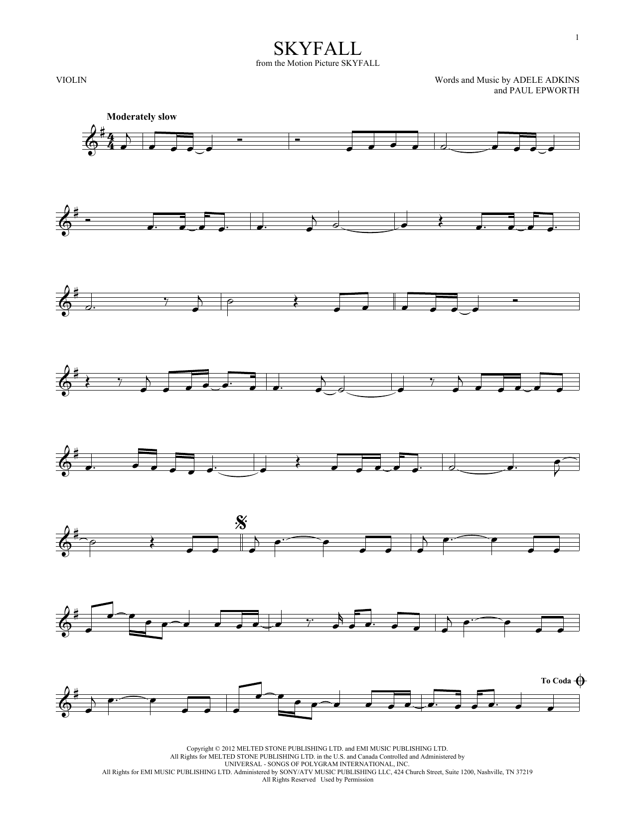 Skyfall (Violin Solo)