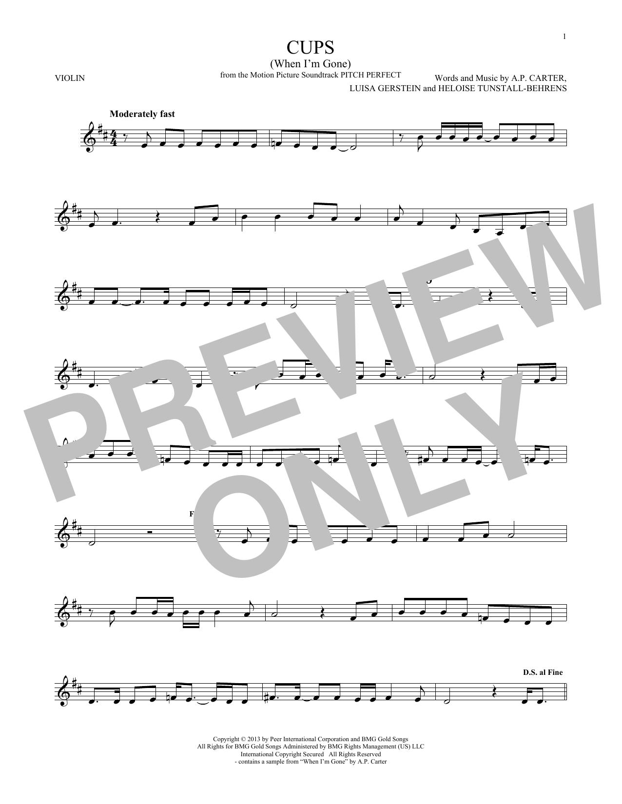 Cups (When I'm Gone) (Violin Solo)