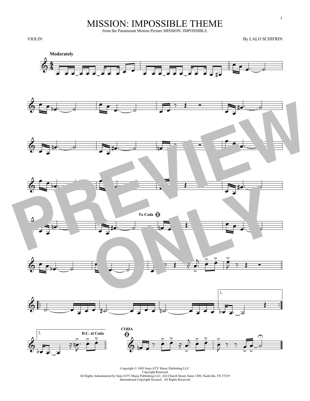 Mission: Impossible Theme (Violin Solo)