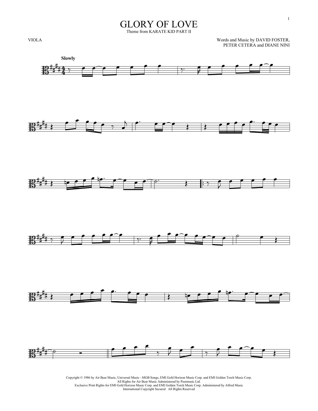 Glory Of Love (Viola Solo)