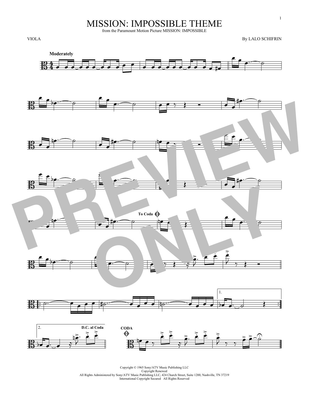 Mission: Impossible Theme (Viola Solo)