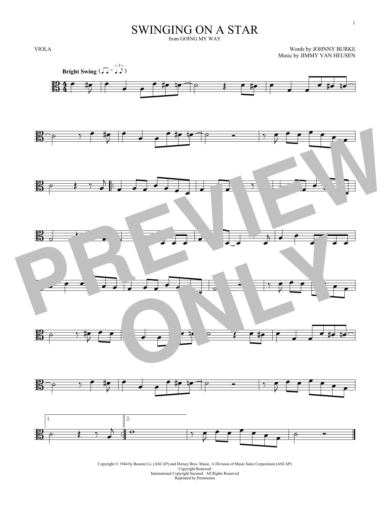 Swinging On A Star (Viola Solo)