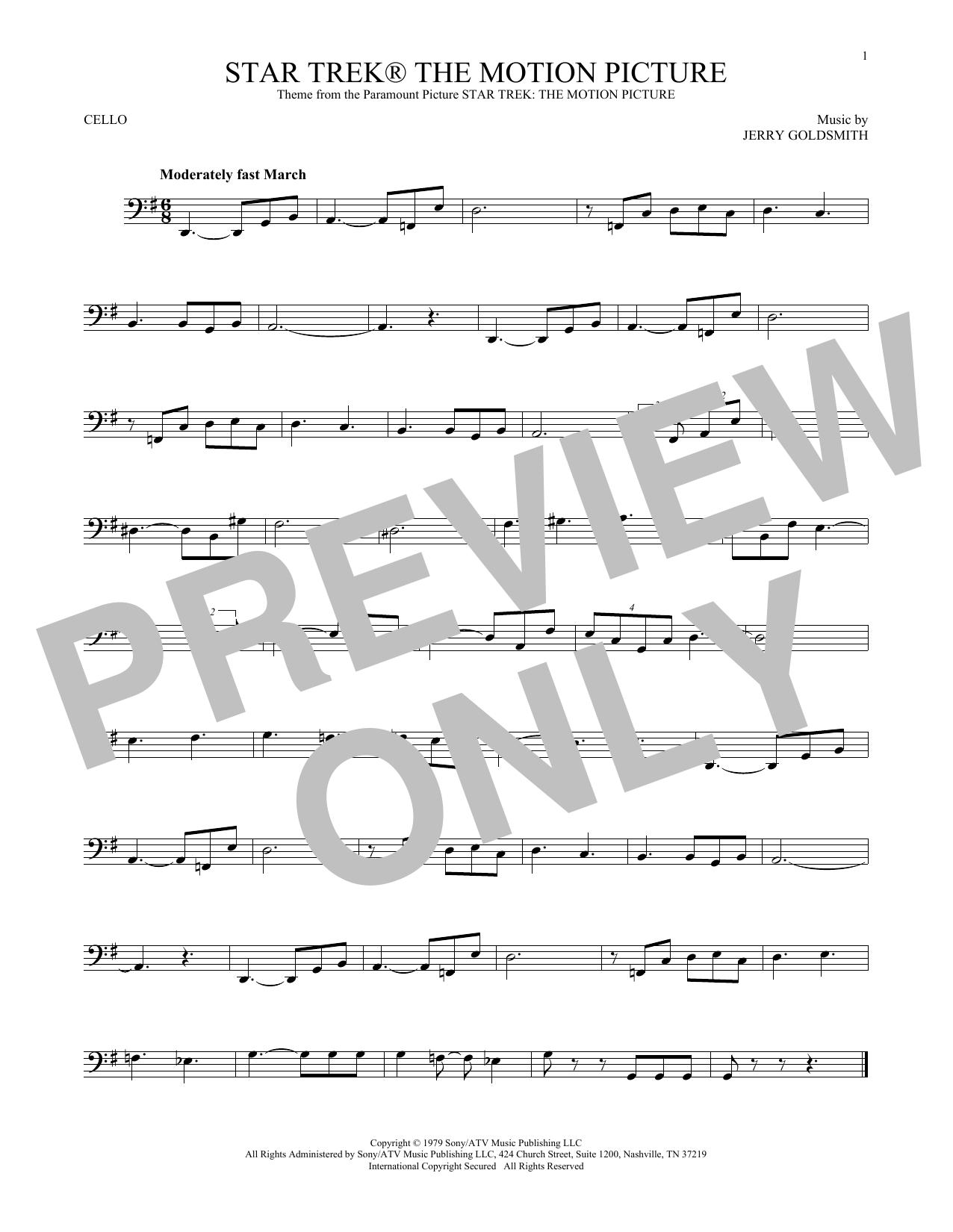 Star Trek The Motion Picture (Cello Solo)