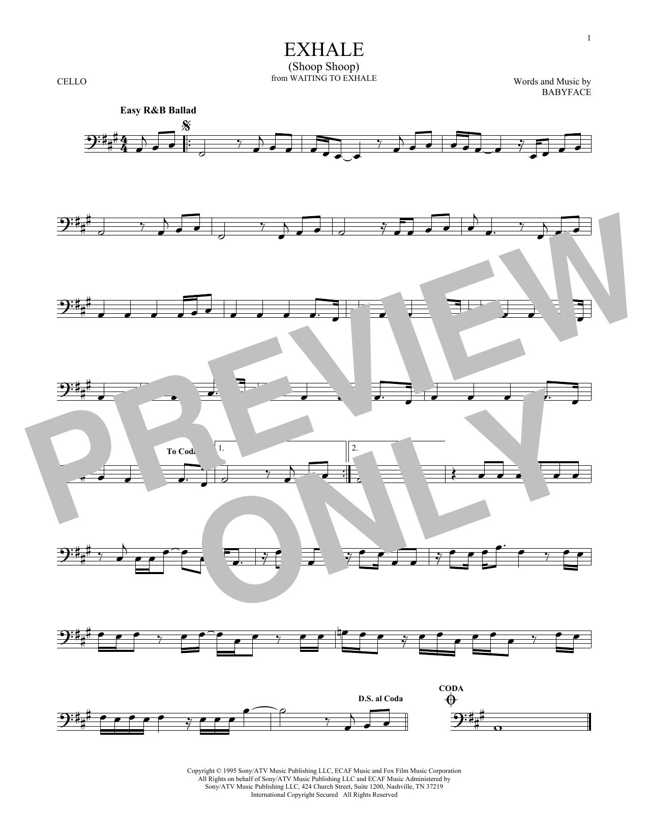 Exhale (Shoop Shoop) (Cello Solo)