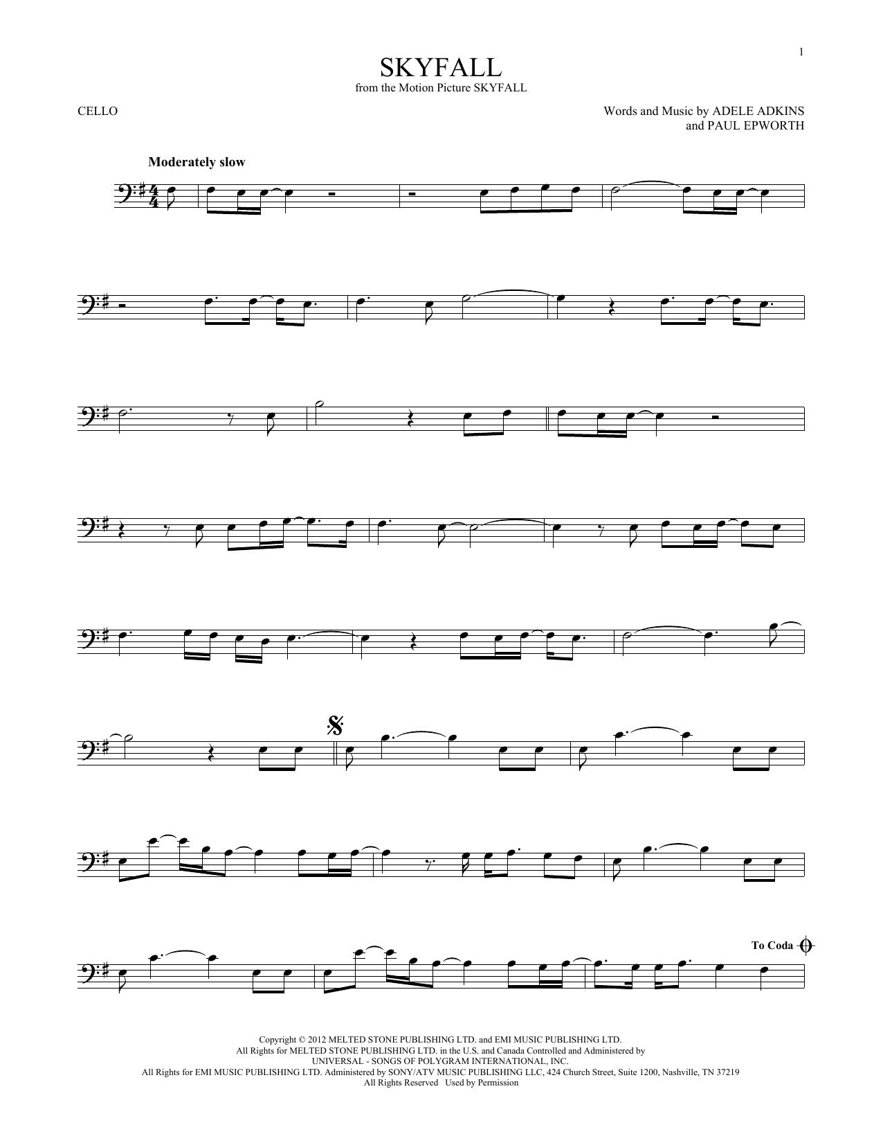 Skyfall (Cello Solo)