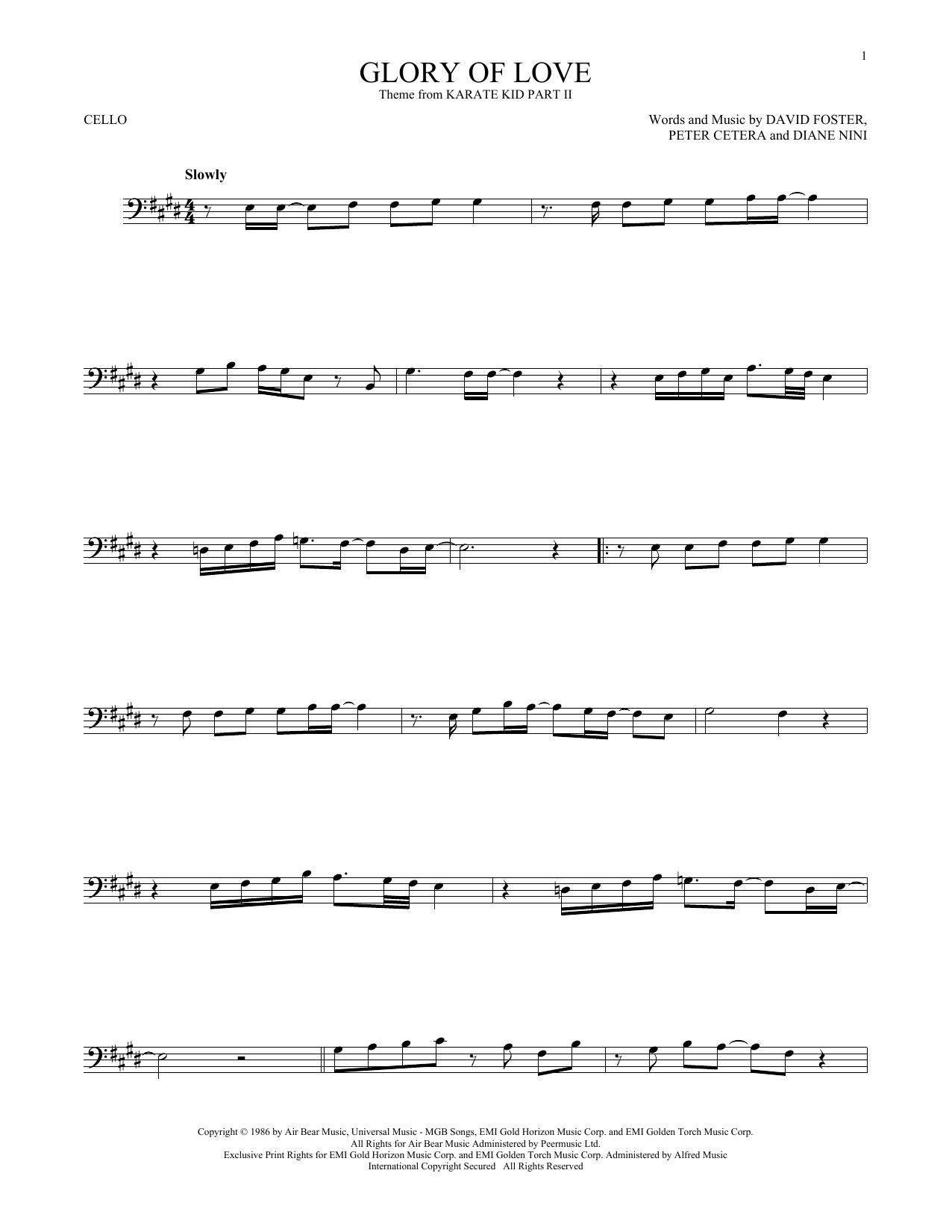 Glory Of Love (Cello Solo)