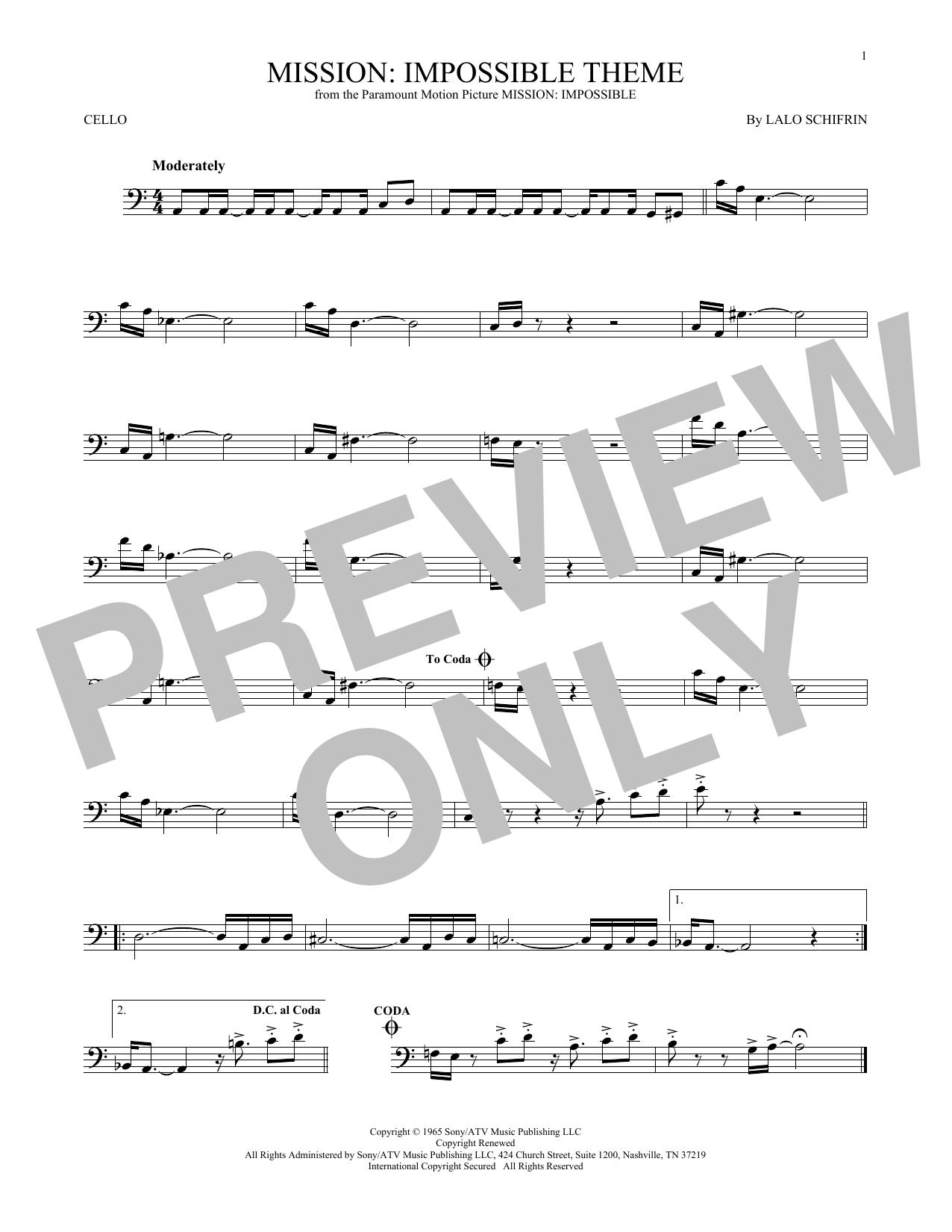 Mission: Impossible Theme (Cello Solo)