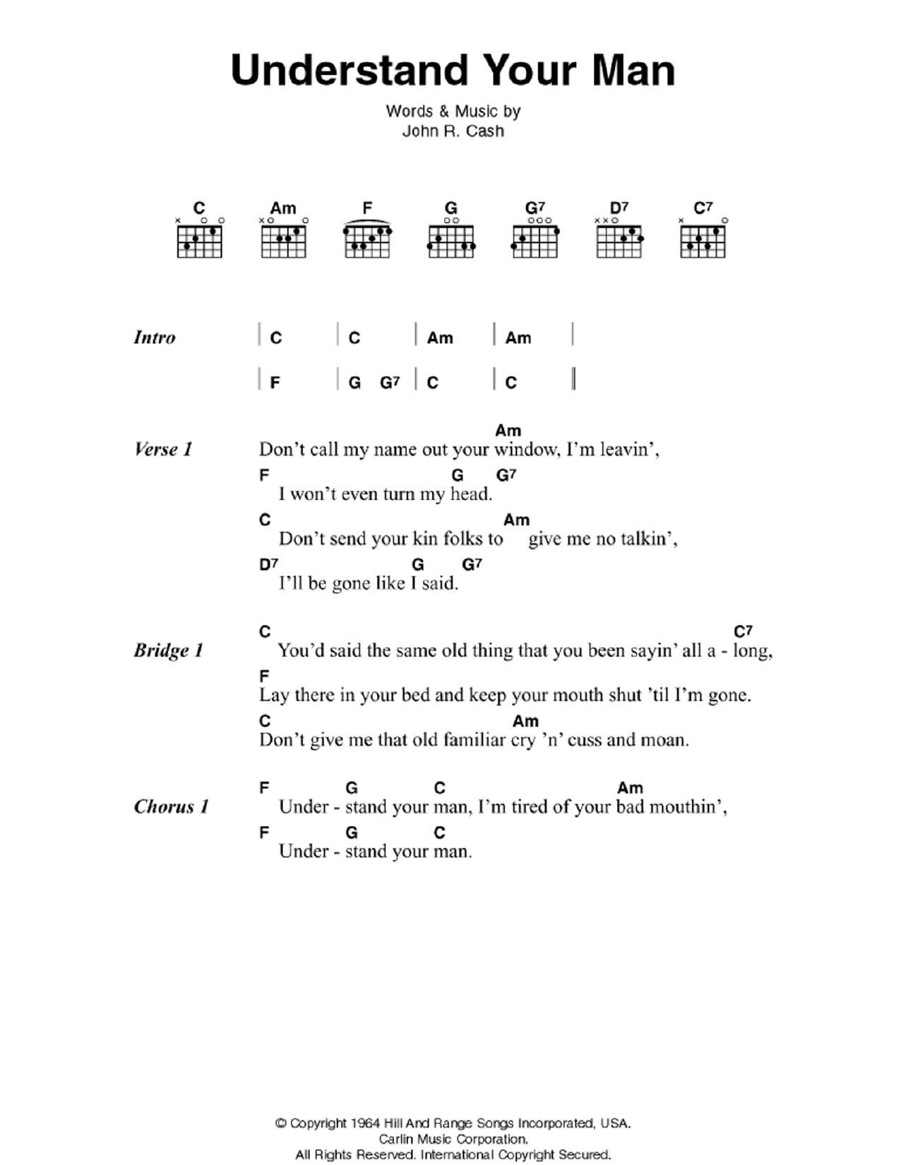 Understand Your Man Sheet Music