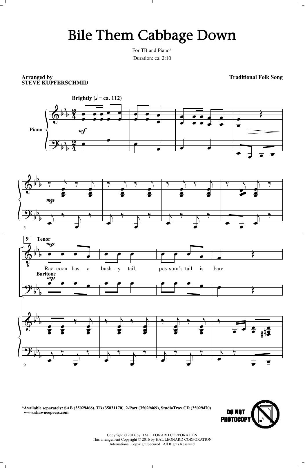 Bile Them Cabbage Down (arr. Steve Kupferschmid) Sheet Music