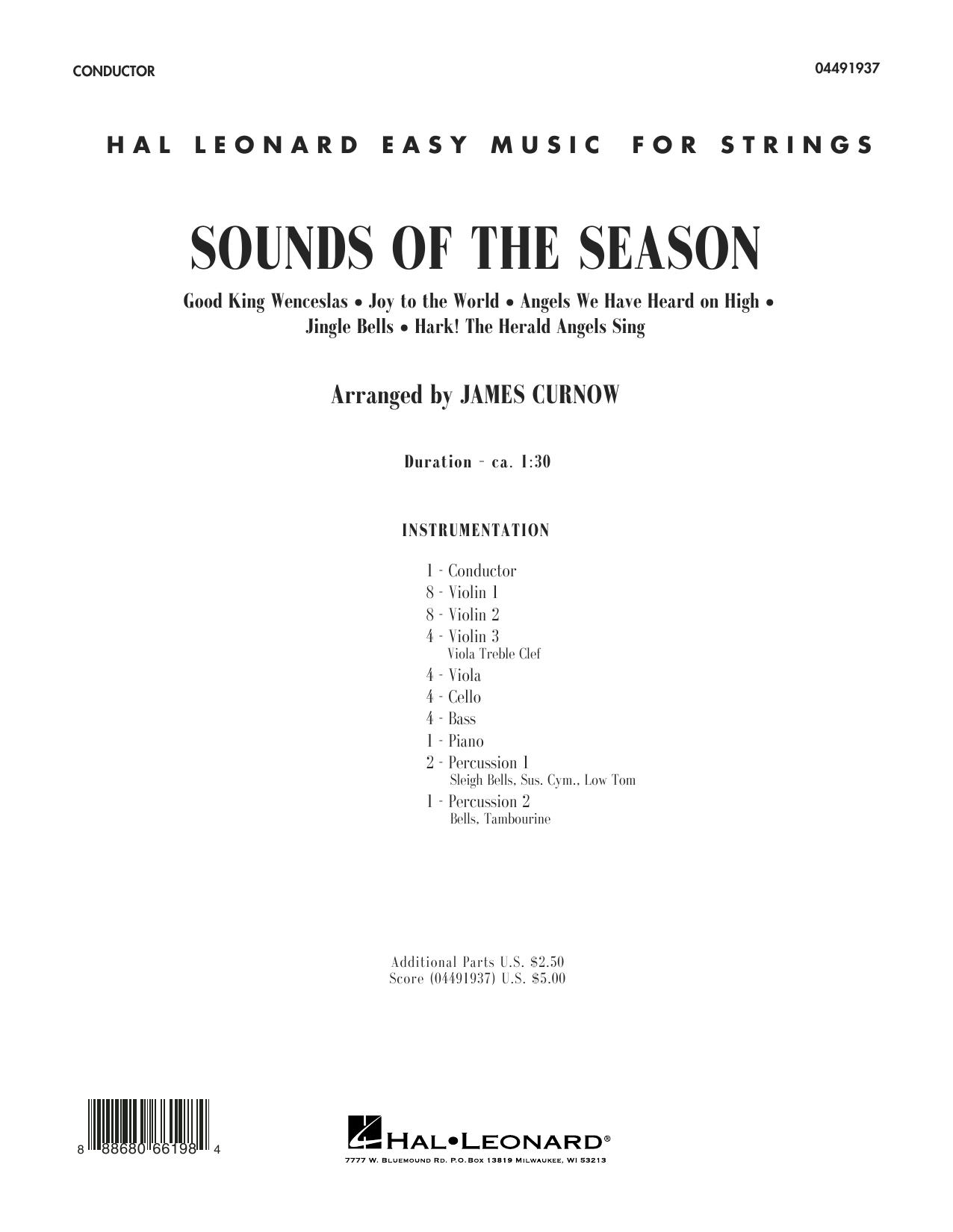 Sounds of the Season (COMPLETE) sheet music for orchestra by James Curnow. Score Image Preview.