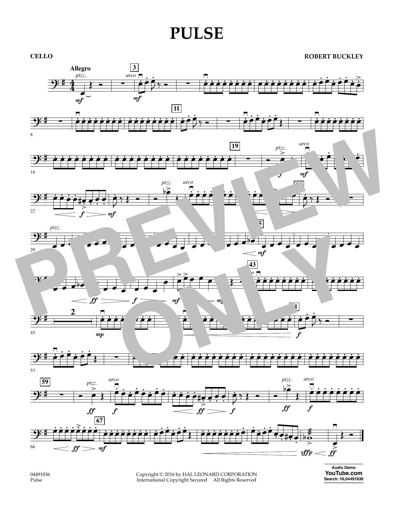 Pulse - Cello Sheet Music