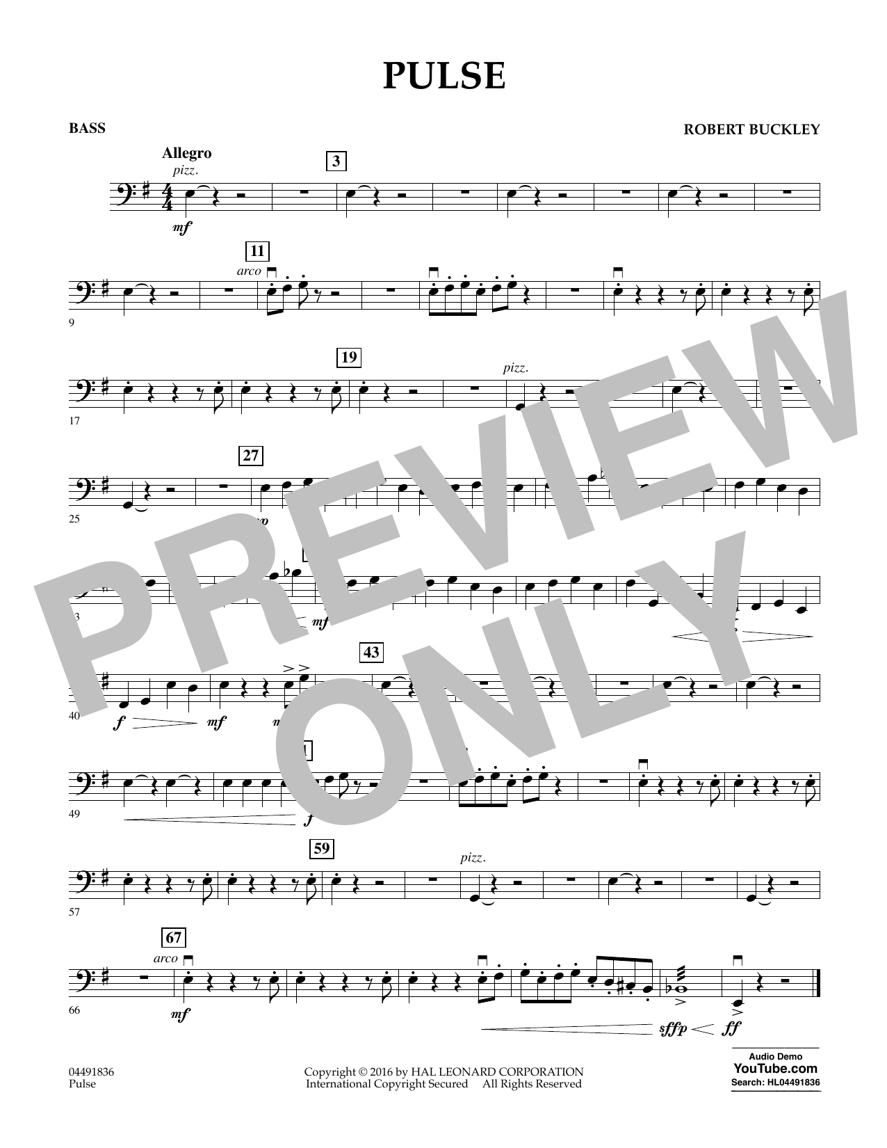 Pulse - Bass Sheet Music