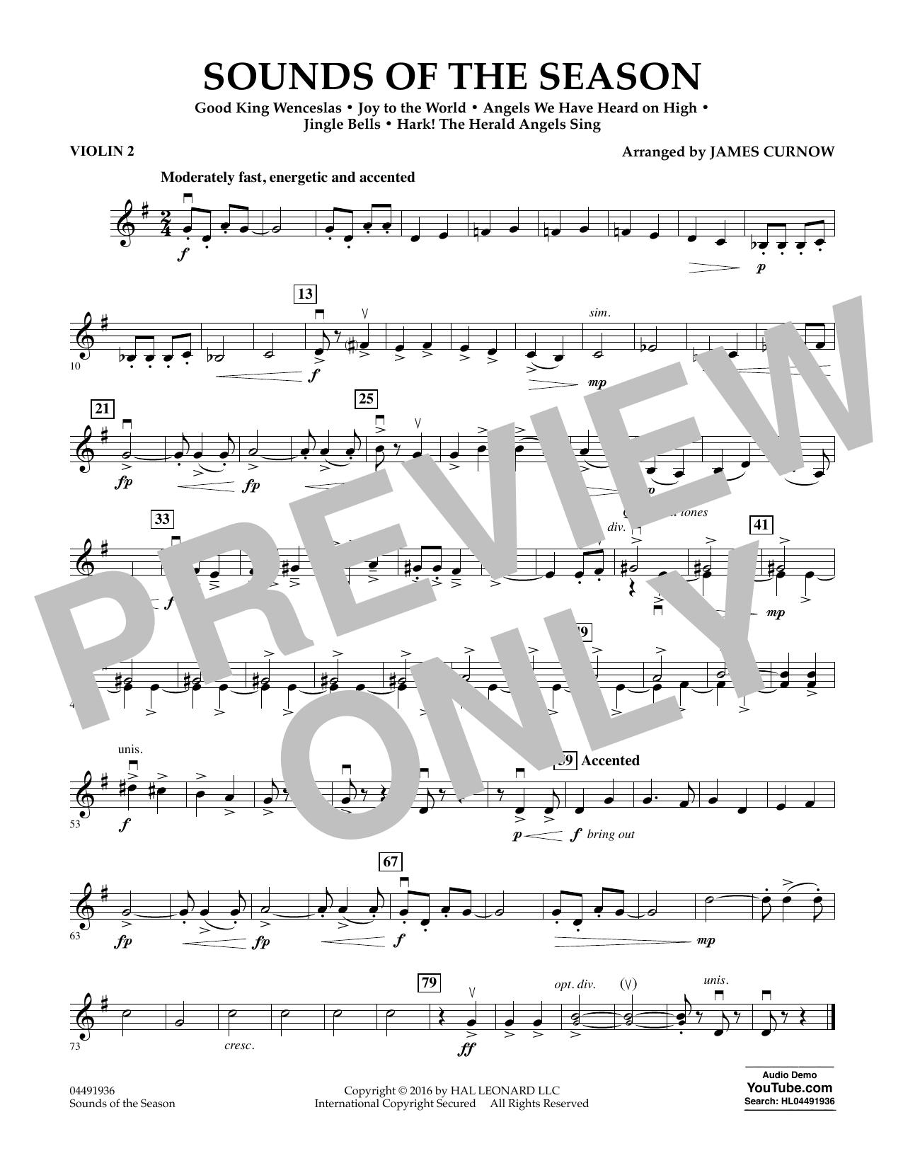 Sounds of the Season - Violin 2 Sheet Music
