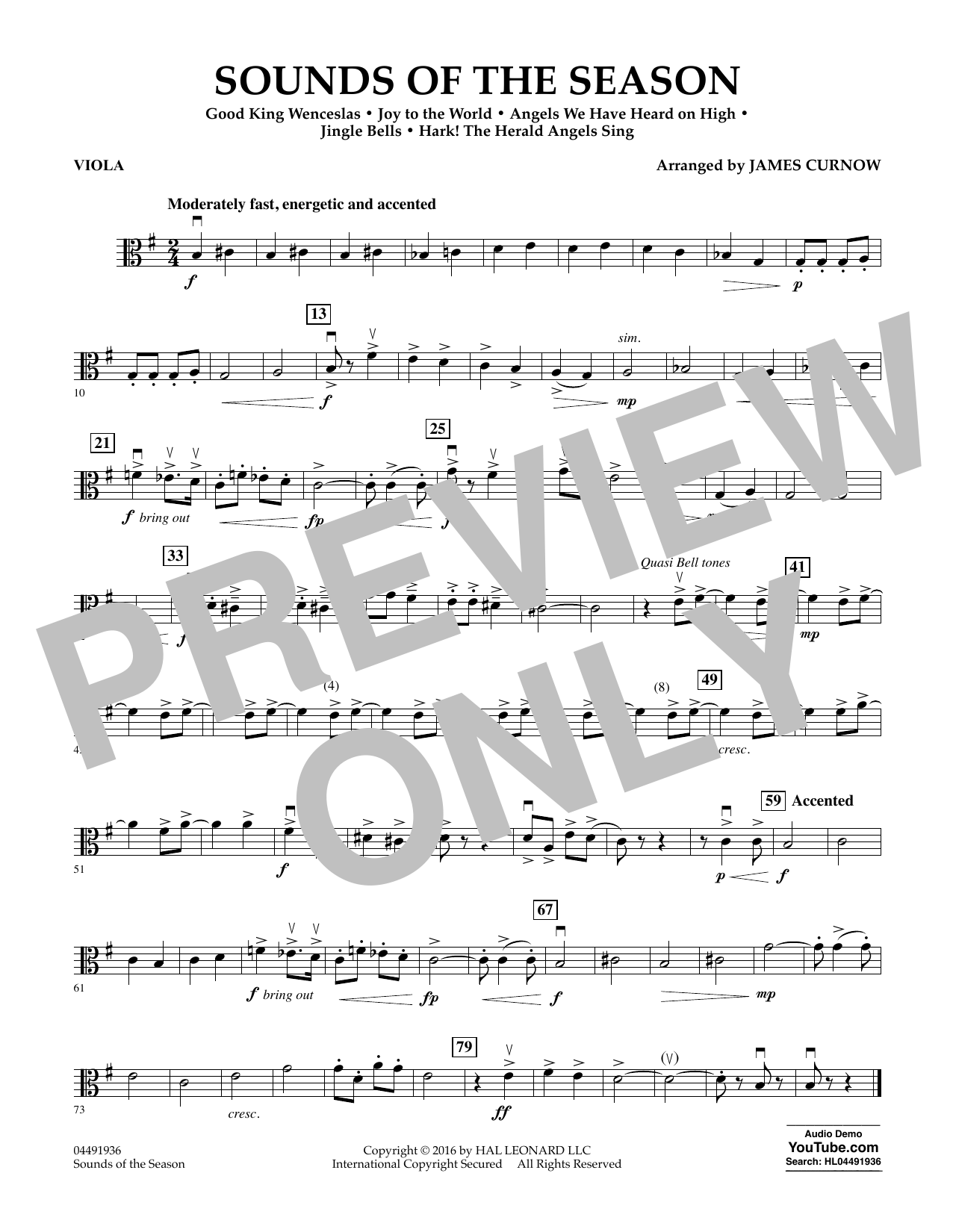 Sounds of the Season - Viola Sheet Music