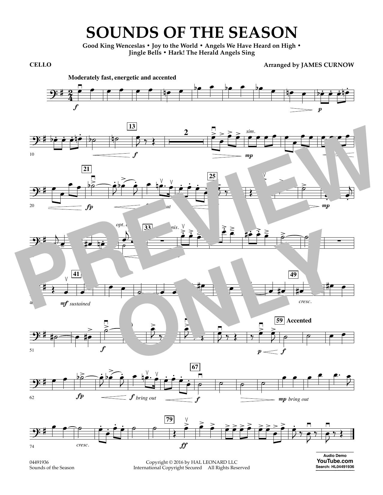 Sounds of the Season - Cello Sheet Music