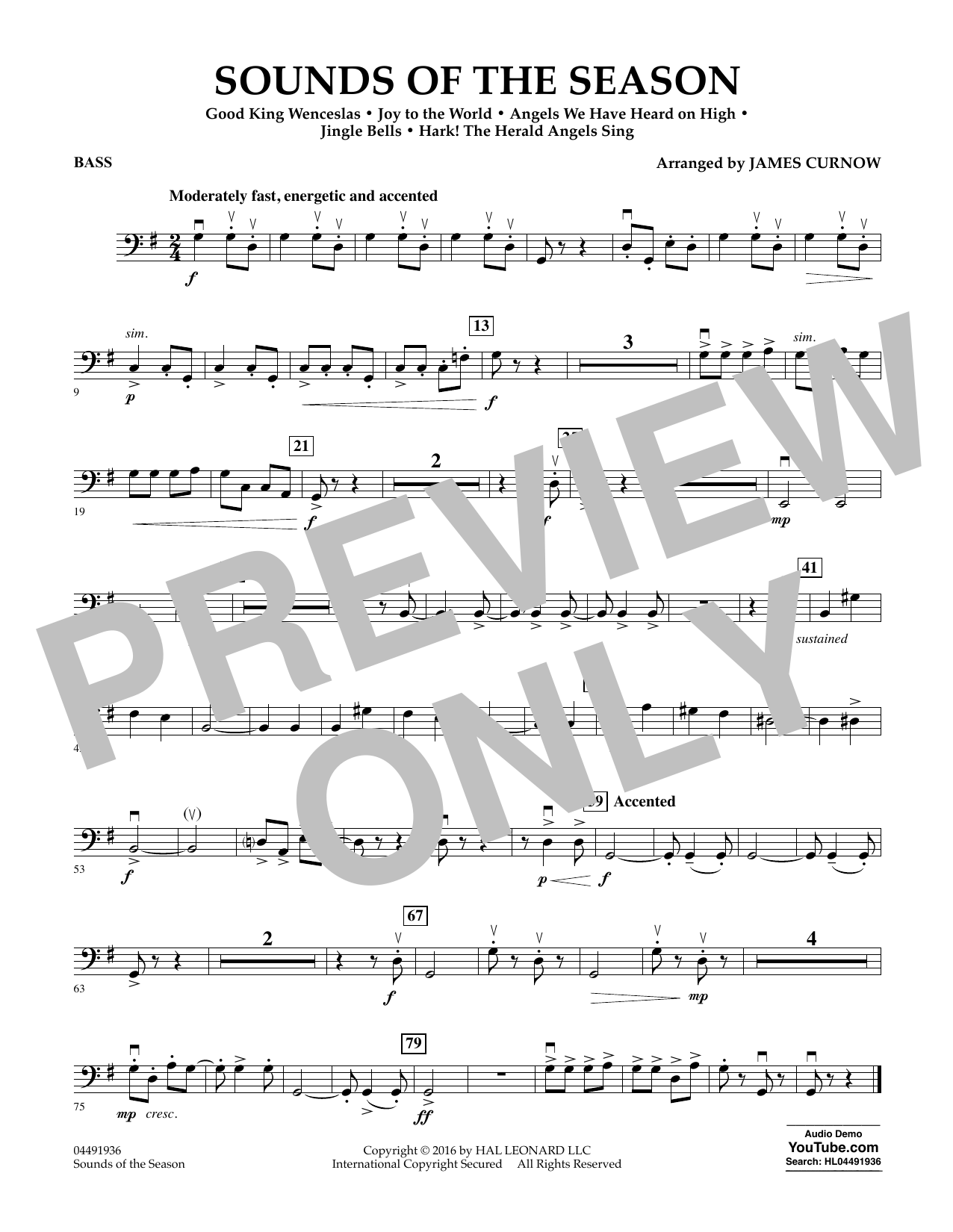 Sounds of the Season - Bass Sheet Music