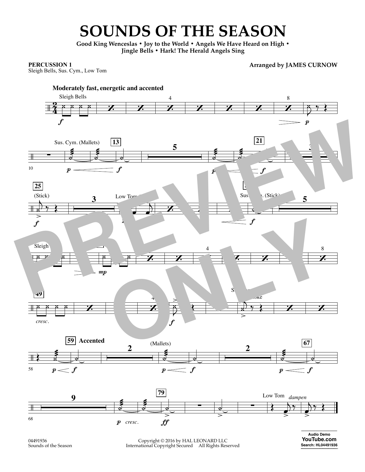 Sounds of the Season - Percussion 1 Sheet Music