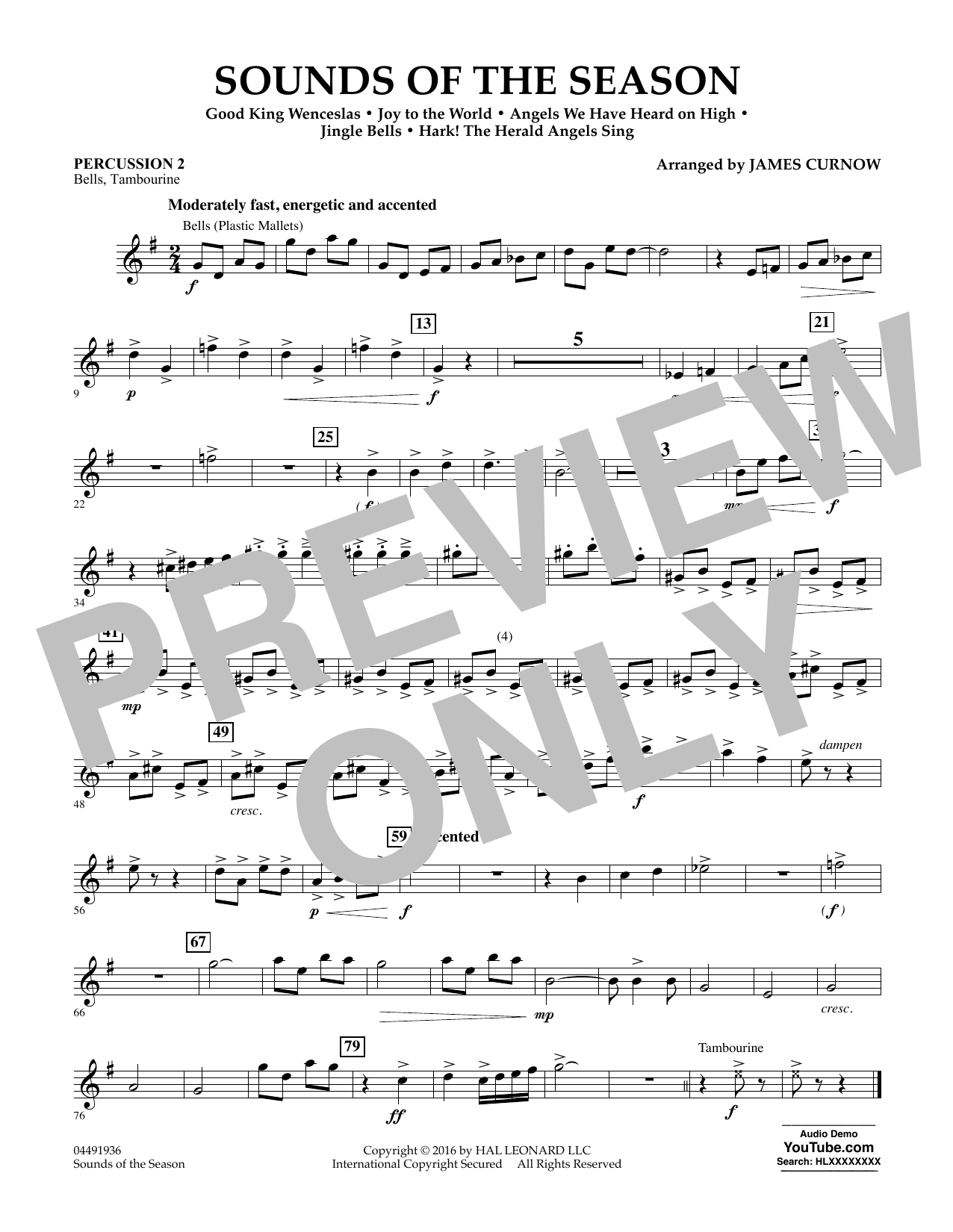 Sounds of the Season - Percussion 2 Sheet Music