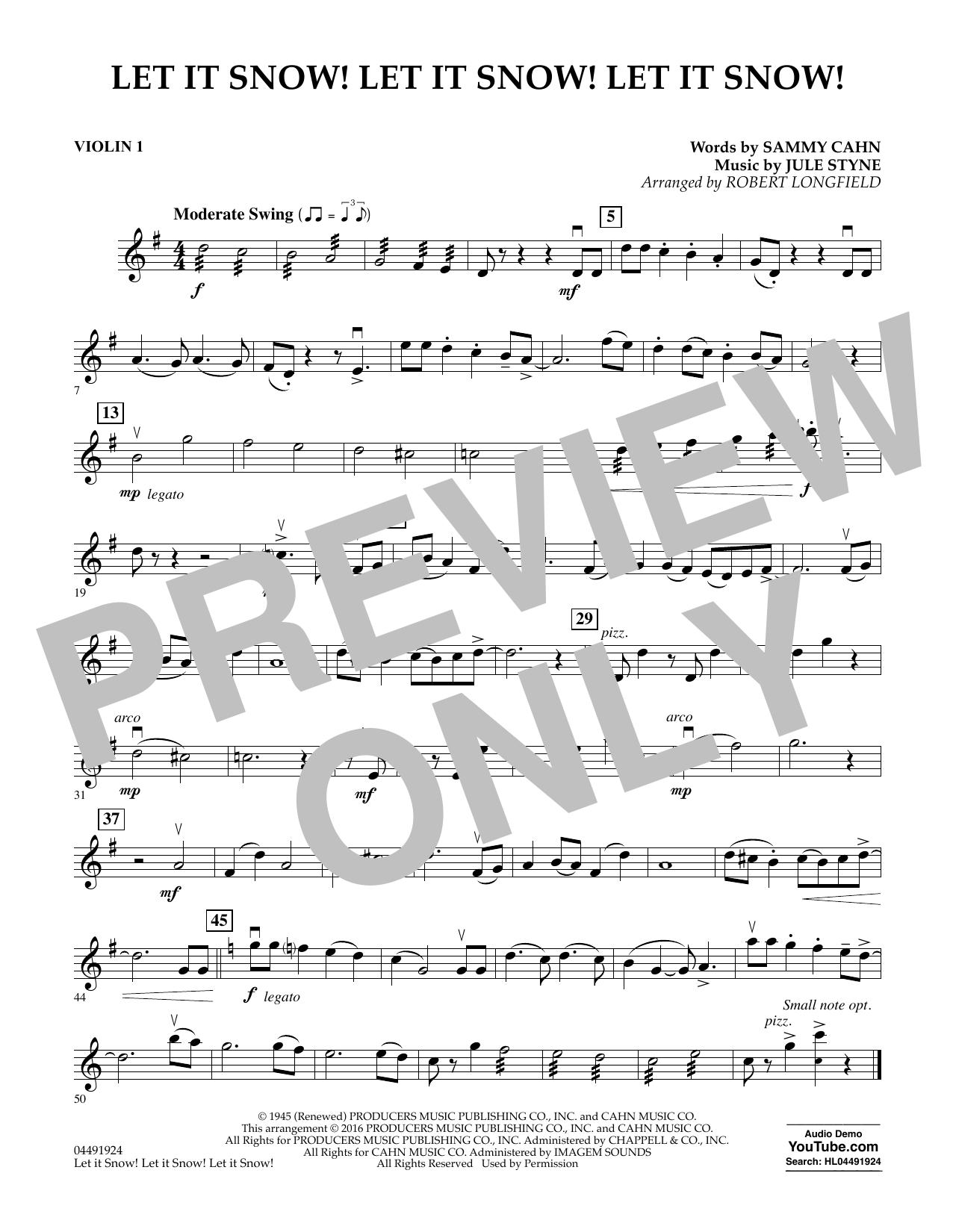 Let It Snow! Let It Snow! Let It Snow! - Violin 1 Sheet Music