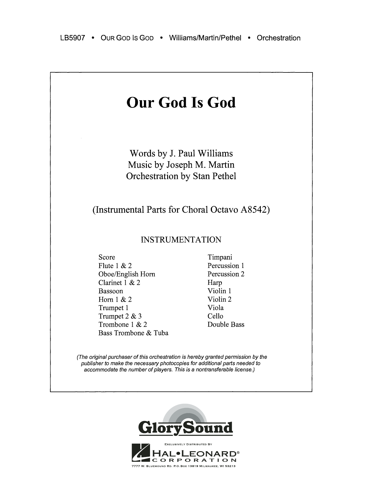 Our God Is God - Score Sheet Music