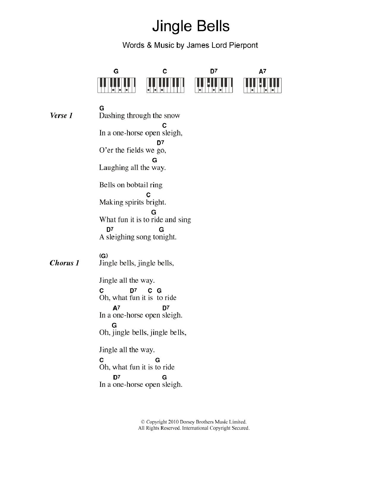 jingle bells sheet music