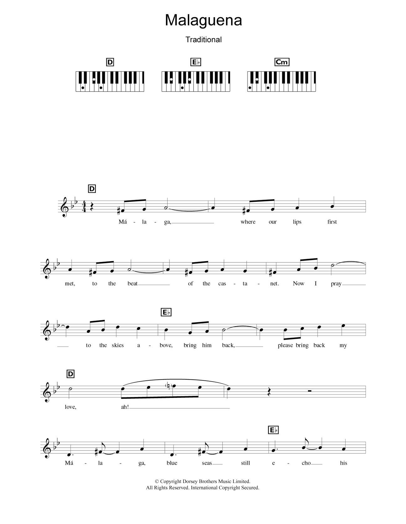 Malaguena Sheet Music
