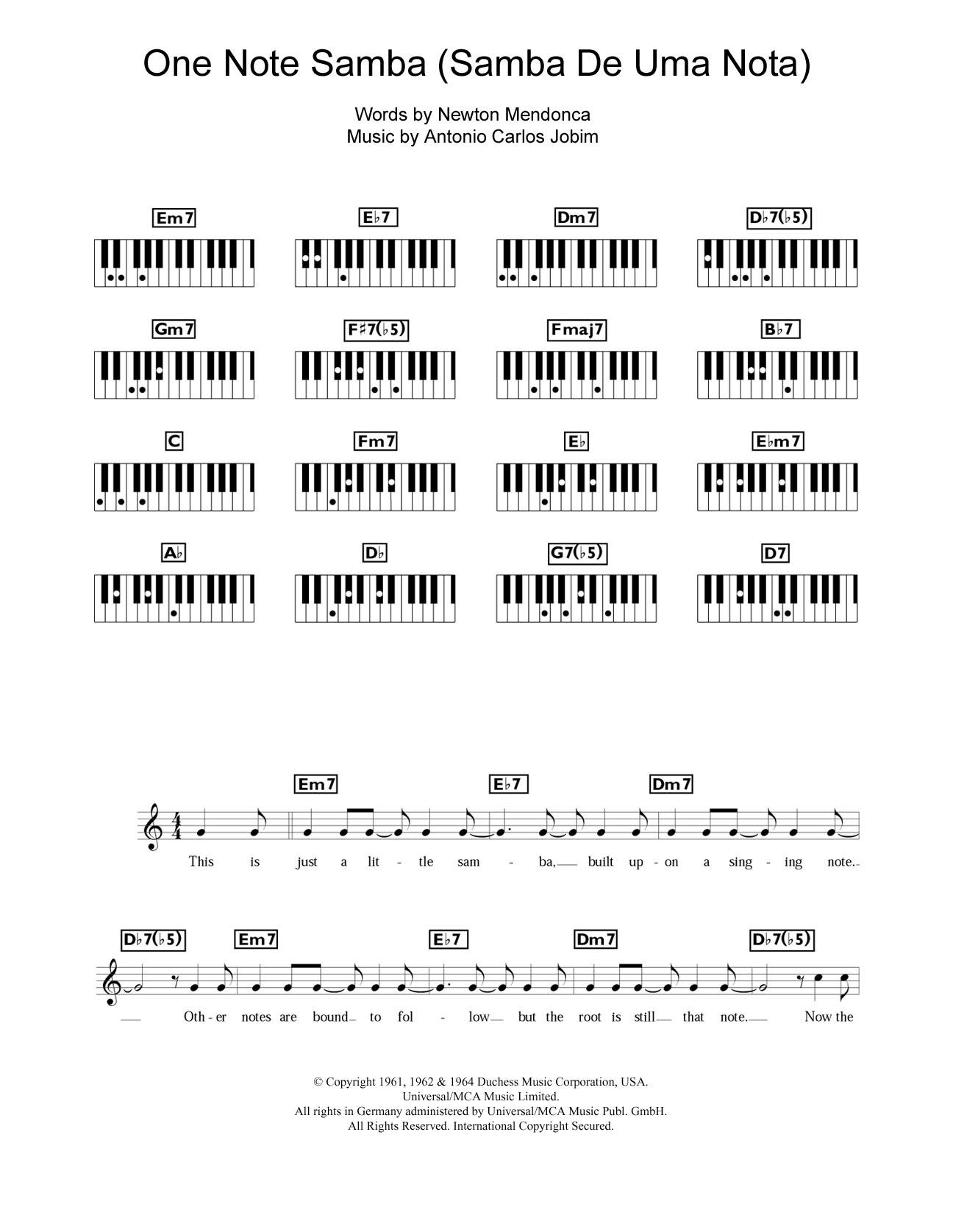 One Note Samba (Samba De Uma Nota) Sheet Music