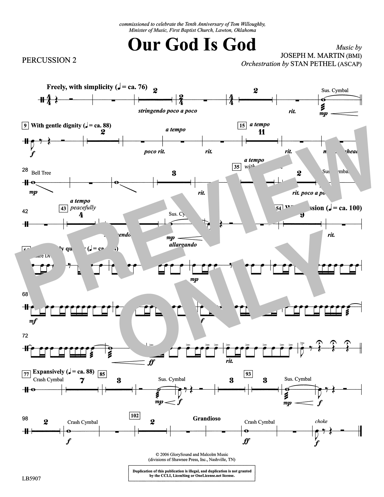 Our God Is God - Percussion 2 Sheet Music