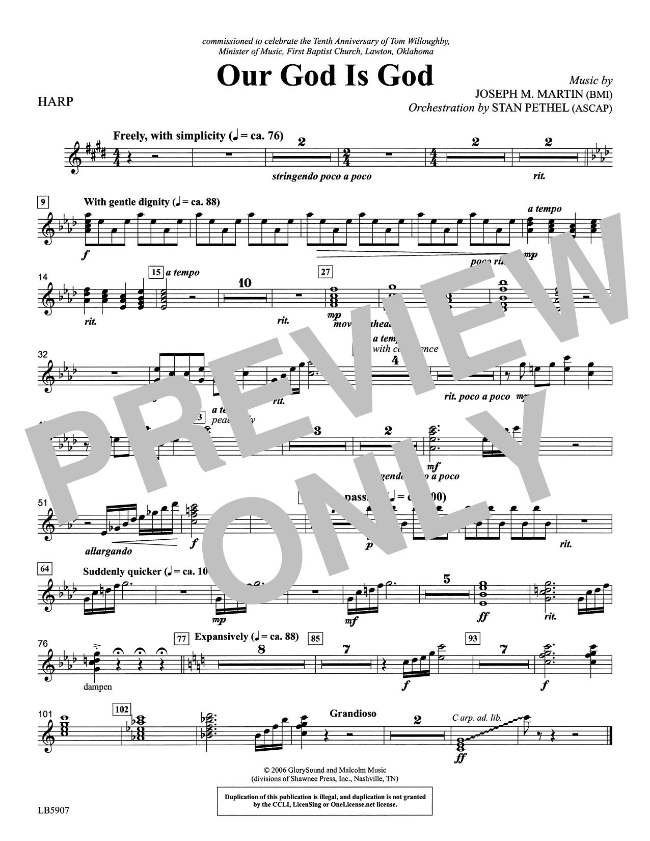 Our God Is God - Harp Sheet Music