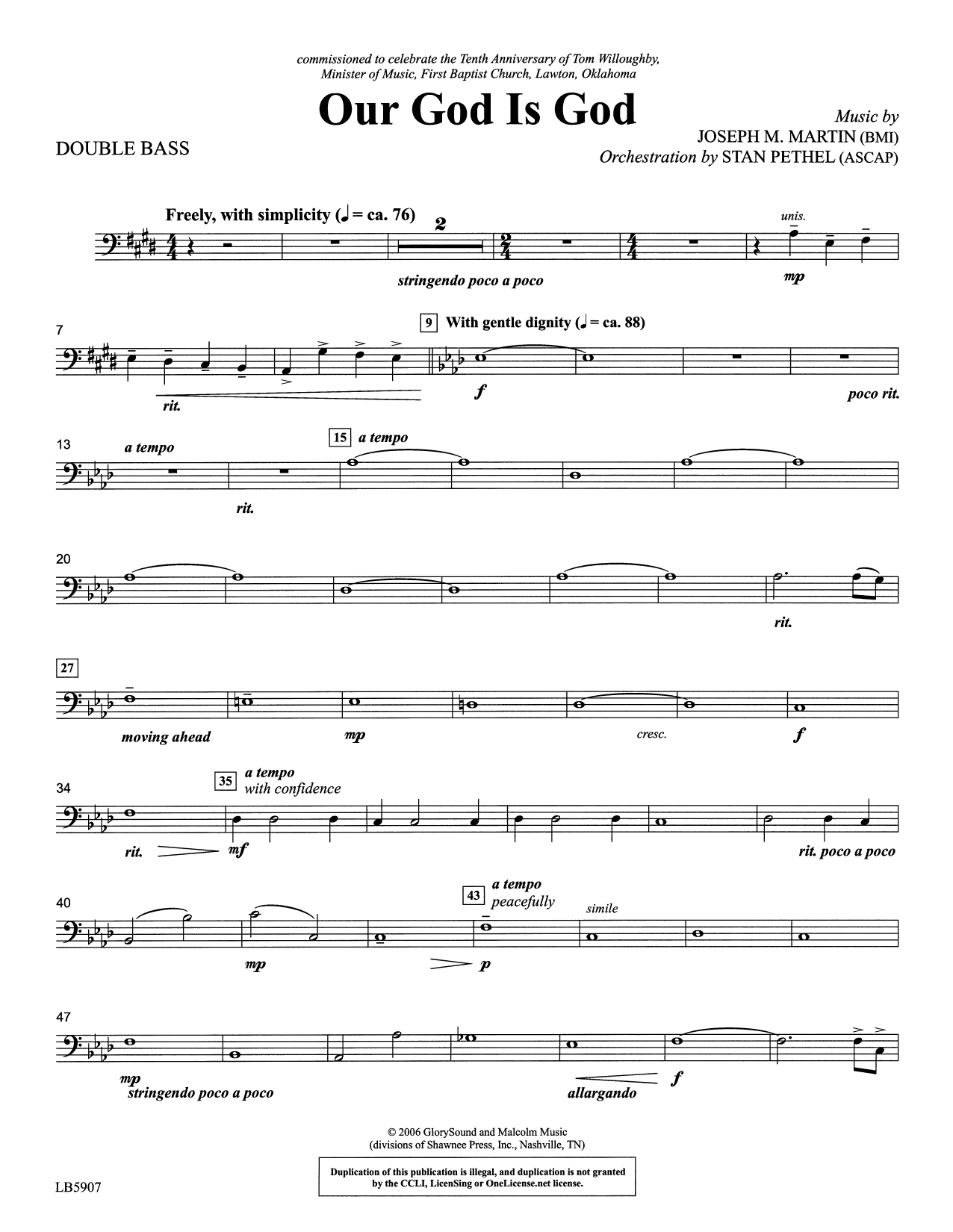 Our God Is God - Double Bass Sheet Music