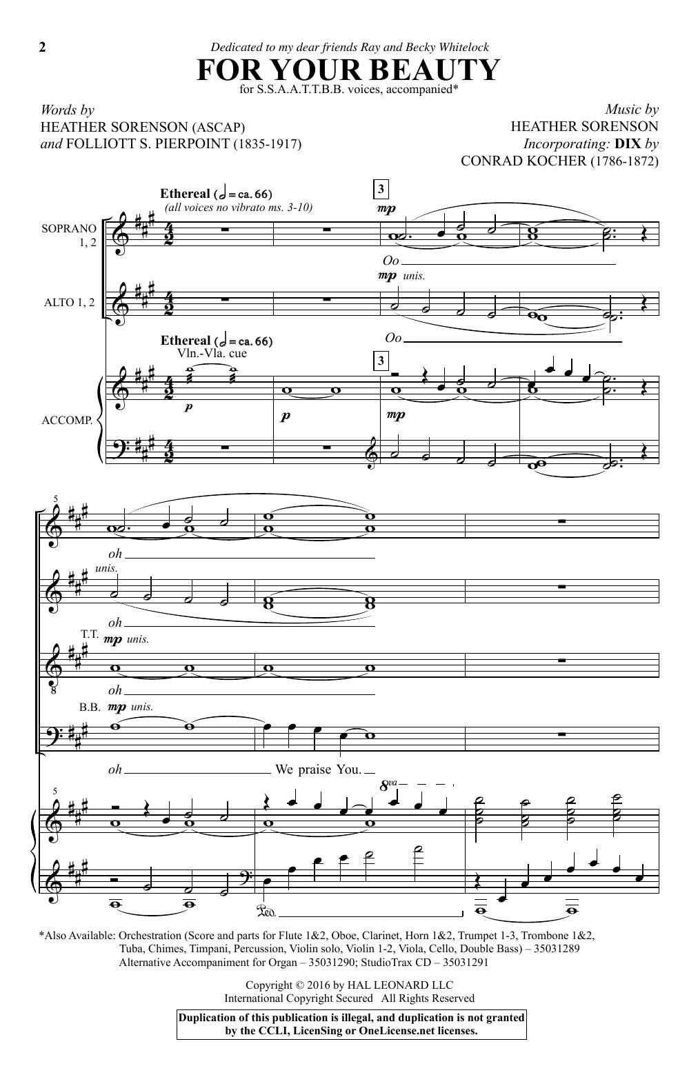 For Your Beauty (SATB Choir)