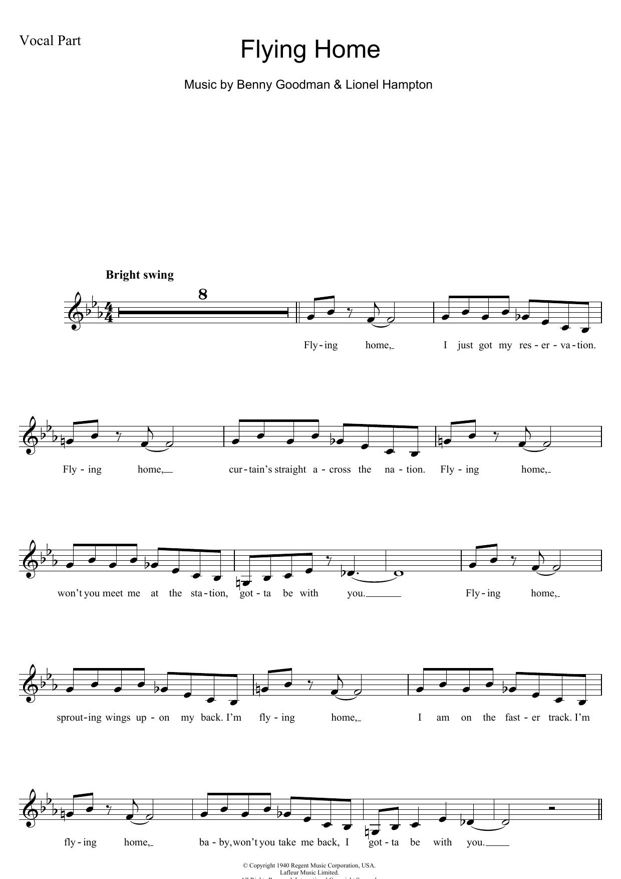 Flying Home Sheet Music