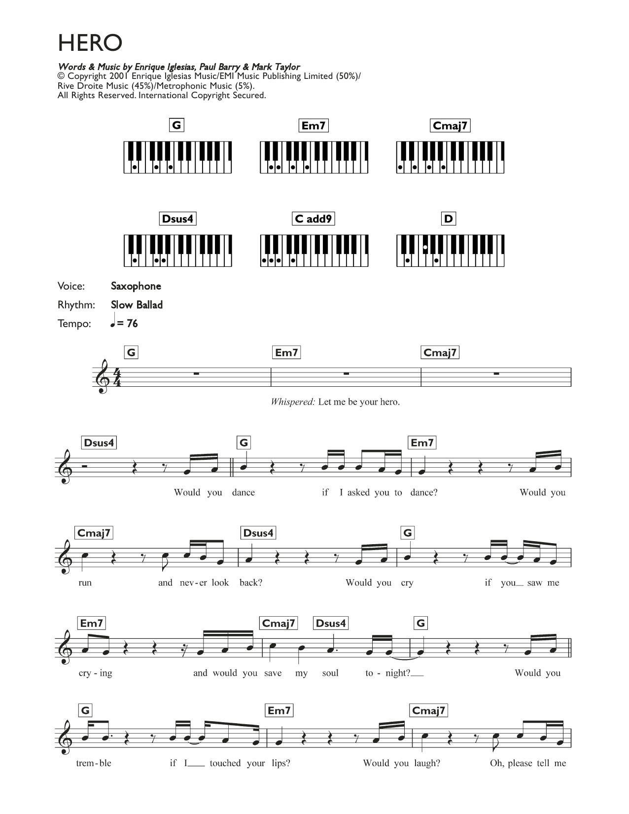 Hero Sheet Music